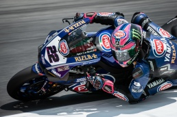 Alex Lowes during WSBK FP2 in Misano