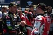 Jonathan Rea and Eugene Laverty during race 1 in Misano