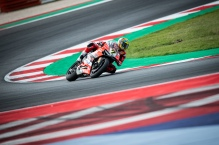 Chaz Davies during Sunday's Warm Up in Misano