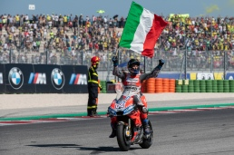 Andrea Dovizioso after MotoGP race in Misano