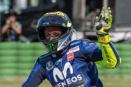 Valentino Rossi after MotoGP race in Misano