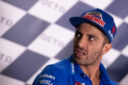 Andrea Iannone during thursday's press conference in Misano
