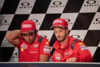 Andrea Dovizioso and Danilo Petrucci during Thursday Press conference in Mugello circuit - MotoGP Gran Premio d'Italia