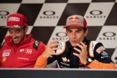 Marc Marquez and Andrea Dovizioso during Thursday Press conference in Mugello circuit - MotoGP Gran Premio d'Italia