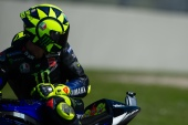 Valentino Rossi during Friday free practices in Mugello Circuit