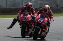Danilo Petrucci overtaking Andrea Dovizioso during MotoGP race in Mugello circuit