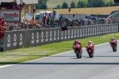 Danilo Petrucci, Marc MArquez and Andrea Dovizioso during MotoGP race in Mugello circuit