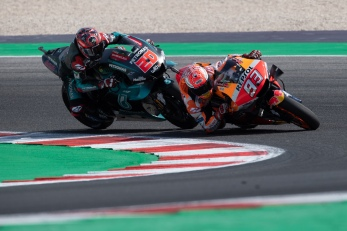 Marc Marquez, Spanish rider and MotoGP World Champion with number 93 for Repsol Honda Team - Fabio Quartararo, Franch rider number 20 for Yamaha Petronas in MotoGP