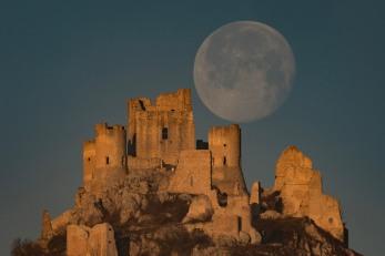 Luna Piena su Rocca Calascio (AQ), gennaio 2020